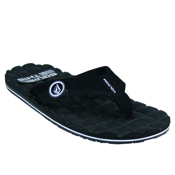 volcom recliner zehentrenner herren badesandalen flip flops schwarz. Black Bedroom Furniture Sets. Home Design Ideas