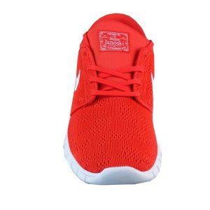 roter Nike SB Stefan Janoski For Daily Use Ledersticker auf der Zunge