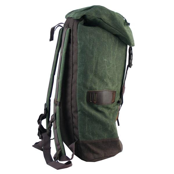 Taschenkappe mit Steckverschlüssen verschließbar