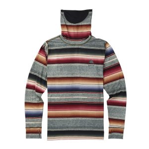 Burton Midweight Base Layer Long Neck Windblocker Thermo Sweatshirt