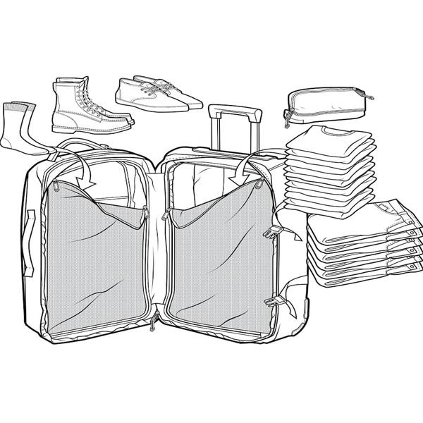 aufgesetzte Tasche für Schnellzugriff auf Reisedokumente