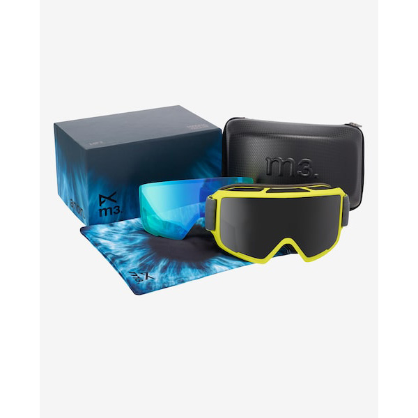 Anon M3 MFI Ski- und Snowboardbrille grey green dark smoke by Zeiss