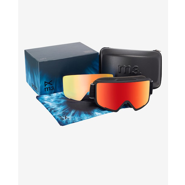 Anon M3 MFI Ski- und Snowboardbrille black red solex by Zeiss