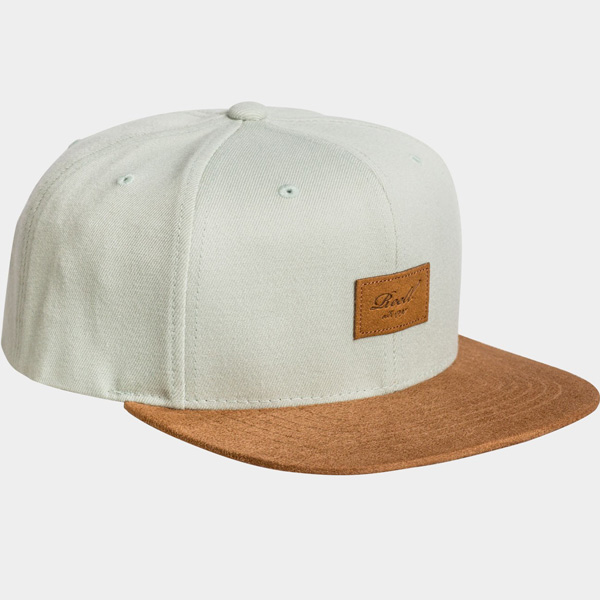 Reell Suede heather y grey 6- Panel Snapback Cap beige grau braun
