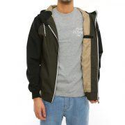 Jacke mit durchgehenden Reißverschluss