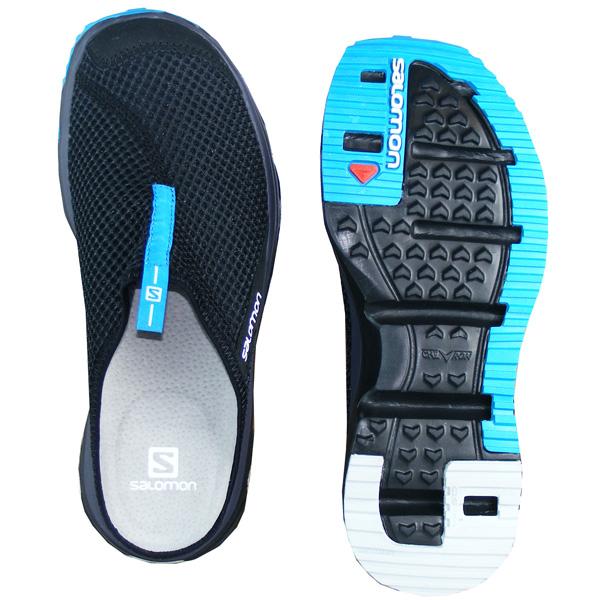 Salomon RX Slide 3.0 Pantoletten Herren black hawaiian surf xPmFG