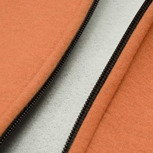durchgehender Full-Front-Zip Metall Reißverschluss