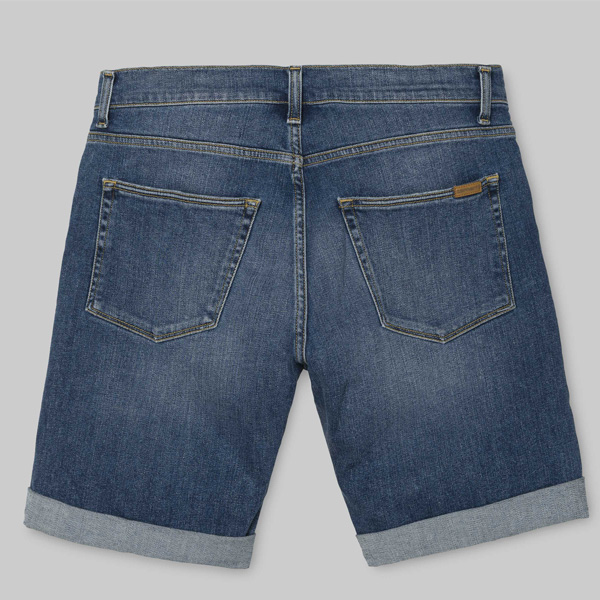 carhartt swell jeans short herren wip kurze hose blau. Black Bedroom Furniture Sets. Home Design Ideas