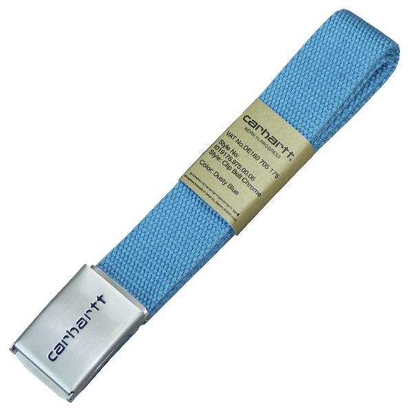 Carhartt WIP Clip Belt dusty blue Gürtel Tonal hellblau