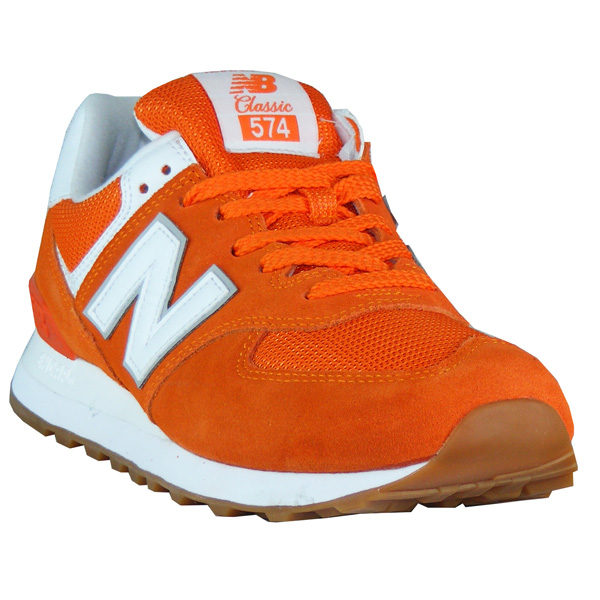 New Balance WL574 ESU Classics varsity orange Damen Sneaker ...