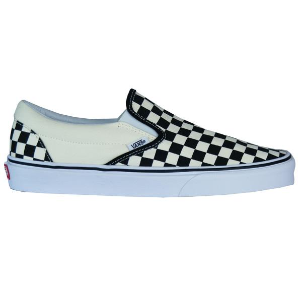 Vans Slip On Checkerboard Old Skool Classic Schuhe schwarz/weiß ...
