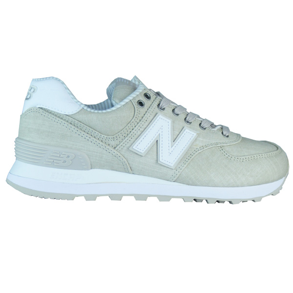 New Balance WL574 CHG Beach Chambray Damen Sneaker beige