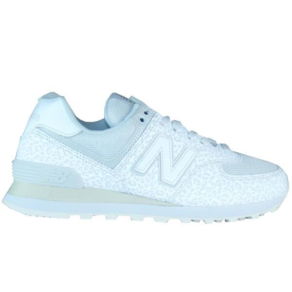 detailed pictures c8475 e9dd8 New Balance WL574 NT Leopard white glitter Damen Sneaker ...