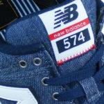 weich gepolsterte Zunge mit NB 574 Textilpatch