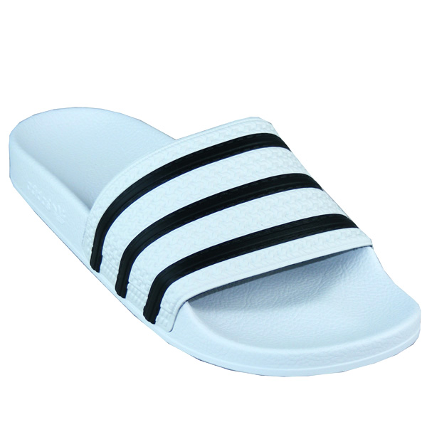 Adidas Adilette Badeschuhe Freizeitsandalen weißschwarz 280648