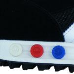 Fersen Bolzen in drei verschiedenen Stärken farblich gekennzeichnet