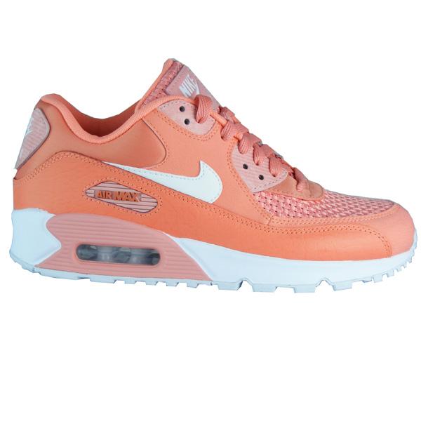 53c8990cf2ec0 Nike Air Max 90 SE Running Damen Laufschuhe orange rosa ...