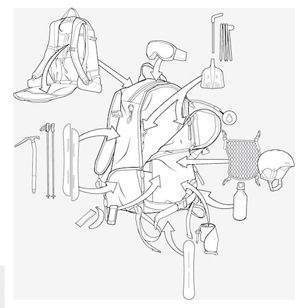 Spezielle Tasche für Sicherheitsausrüstung mit Schnellzugriff