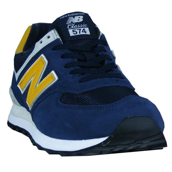 new balance classic 574 blau gelb
