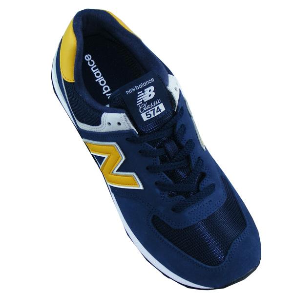 New Balance ML574 SMB Herren Sneaker blau/gelb ...