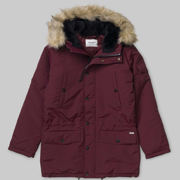 Carhartt WIP Anchorage Winterjacke Damen rotschwarz