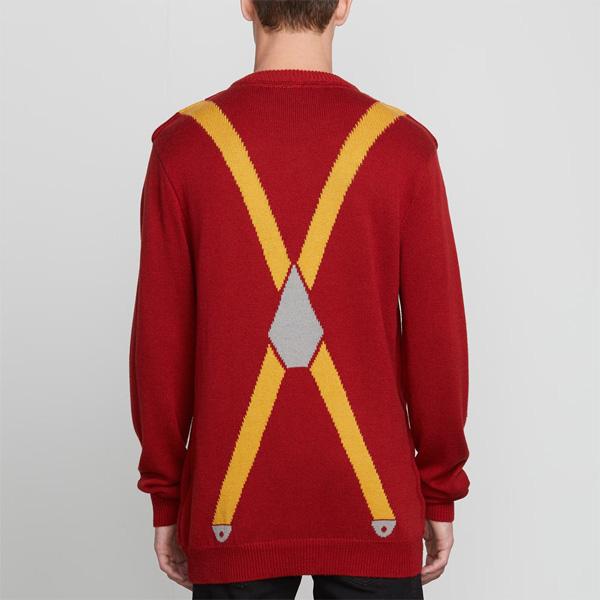 Pullover mit Hosenträger Jacquard-Artwork