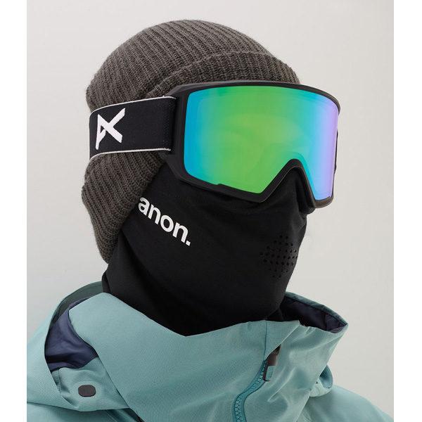 Anon M3 MFI Ski- und Snowboardbrille black sonar green by Zeiss