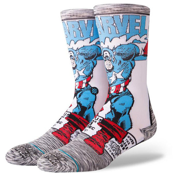 Stance Captain America Comic Herren Socken