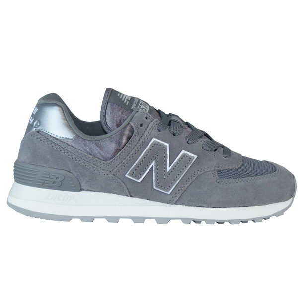 New Balance WL574 MMS Sateen Tab Schuhe Damen grau