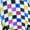 optischer Style im verschieden Farbigen Disco Glimmer Look der 70iger
