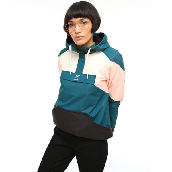 Iriedaily Color Up Breaker Windbreaker Damen Jacke türkiserosa