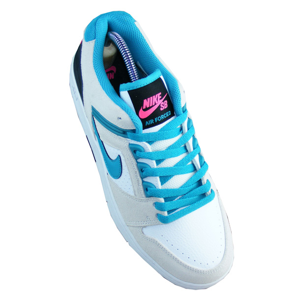Nike SB Air Force 2 Low Sport Style Schuhe Herren weißtürkise