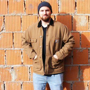 Carhartt WIP OG Chore Coat Herren Classic Winterjacke braun/schwarz