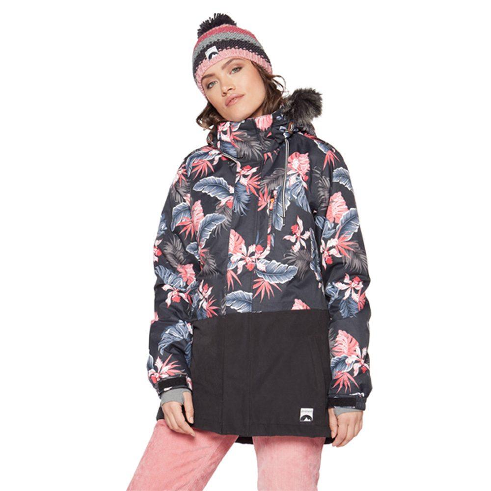 Protest Mixedup Floral Damen Ski und Snowboardjacke 2019
