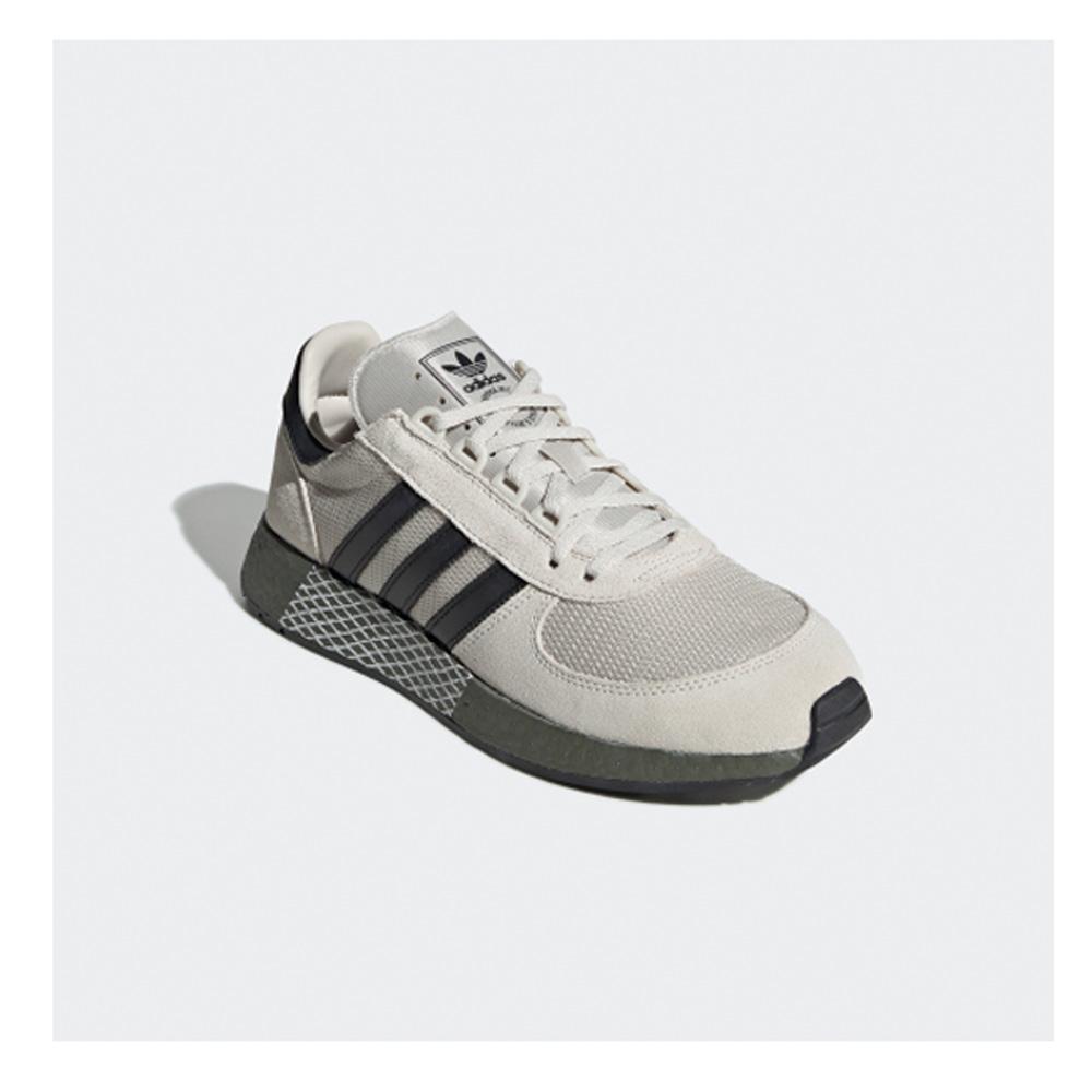 Marathon Adidas Originals EE4922 Tech Herren Laufschuhe weißschwarzkhaki trshQd