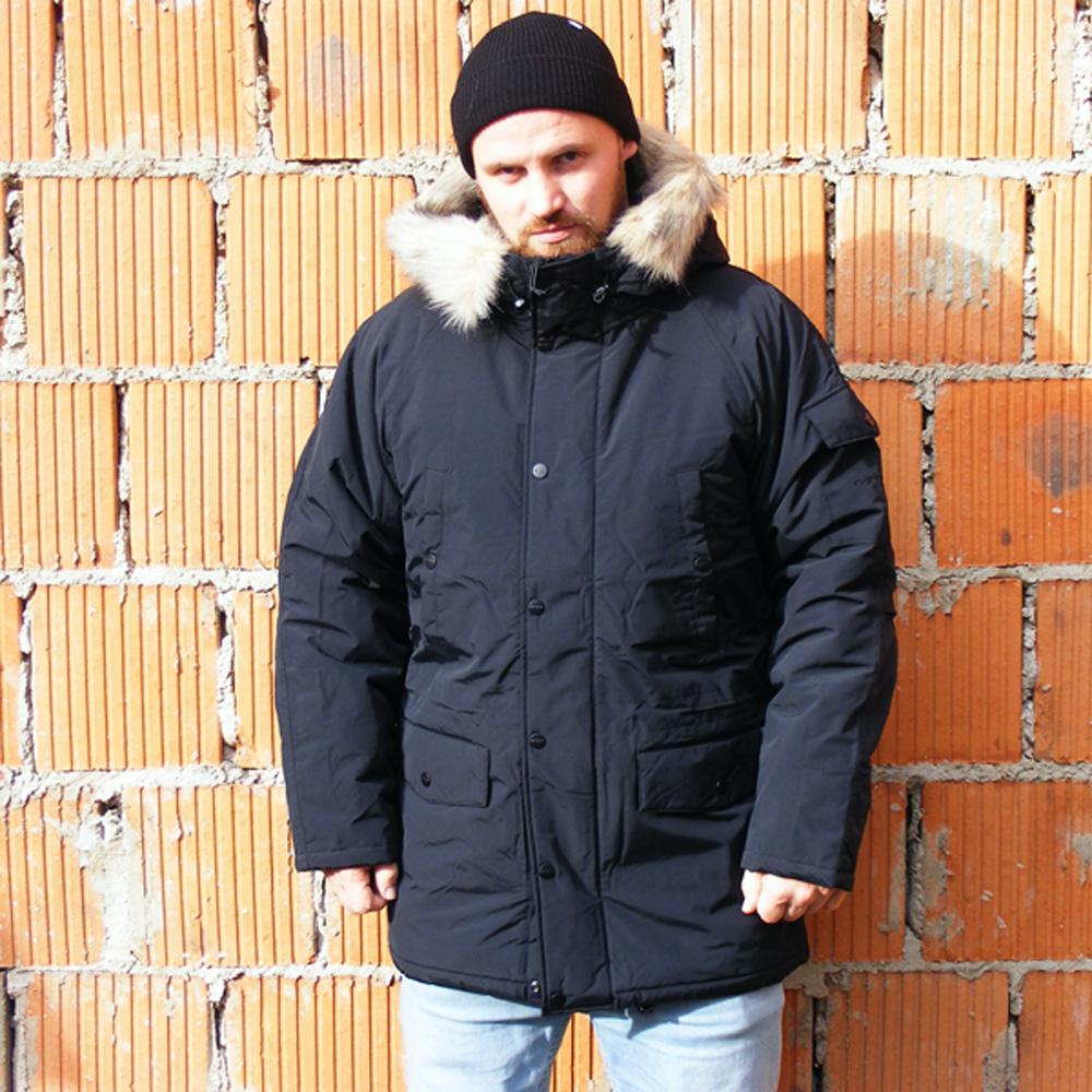 Carhartt WIP Anchorage Parka Herren Winterjacke schwarz