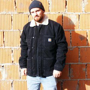 Carhartt WIP Fairmount Coat Herren Winterjacke schwarz