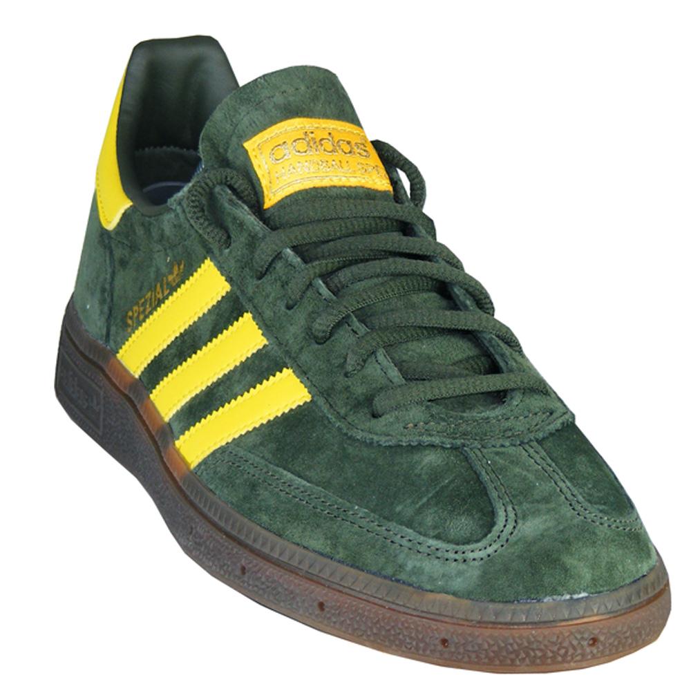 Dettagli su Adidas Originals Pallamano Speciale Uomo Retrò Scarpe VerdeGiallo EF5748