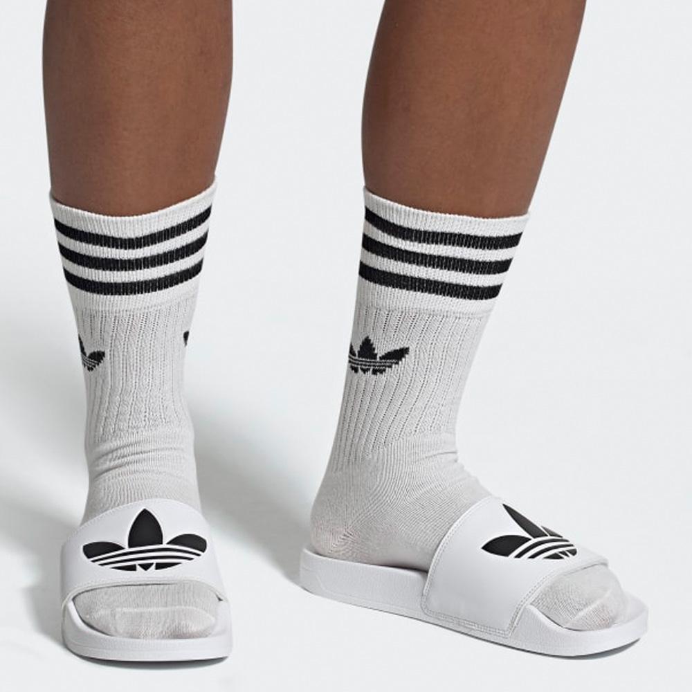 Adidas Originals Lite Adilette Badeschuhe Herren weißschwarz FU8297