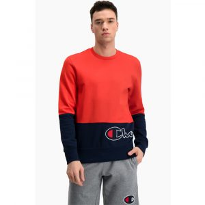 Champion Colour Block Logo Wraparound Sweatshirt Herren