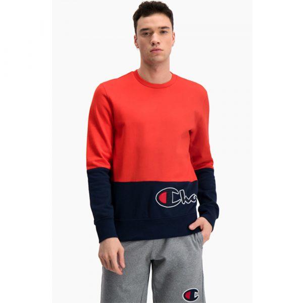 Champion Colour Block Logo Wraparound Sweatshirt Herren