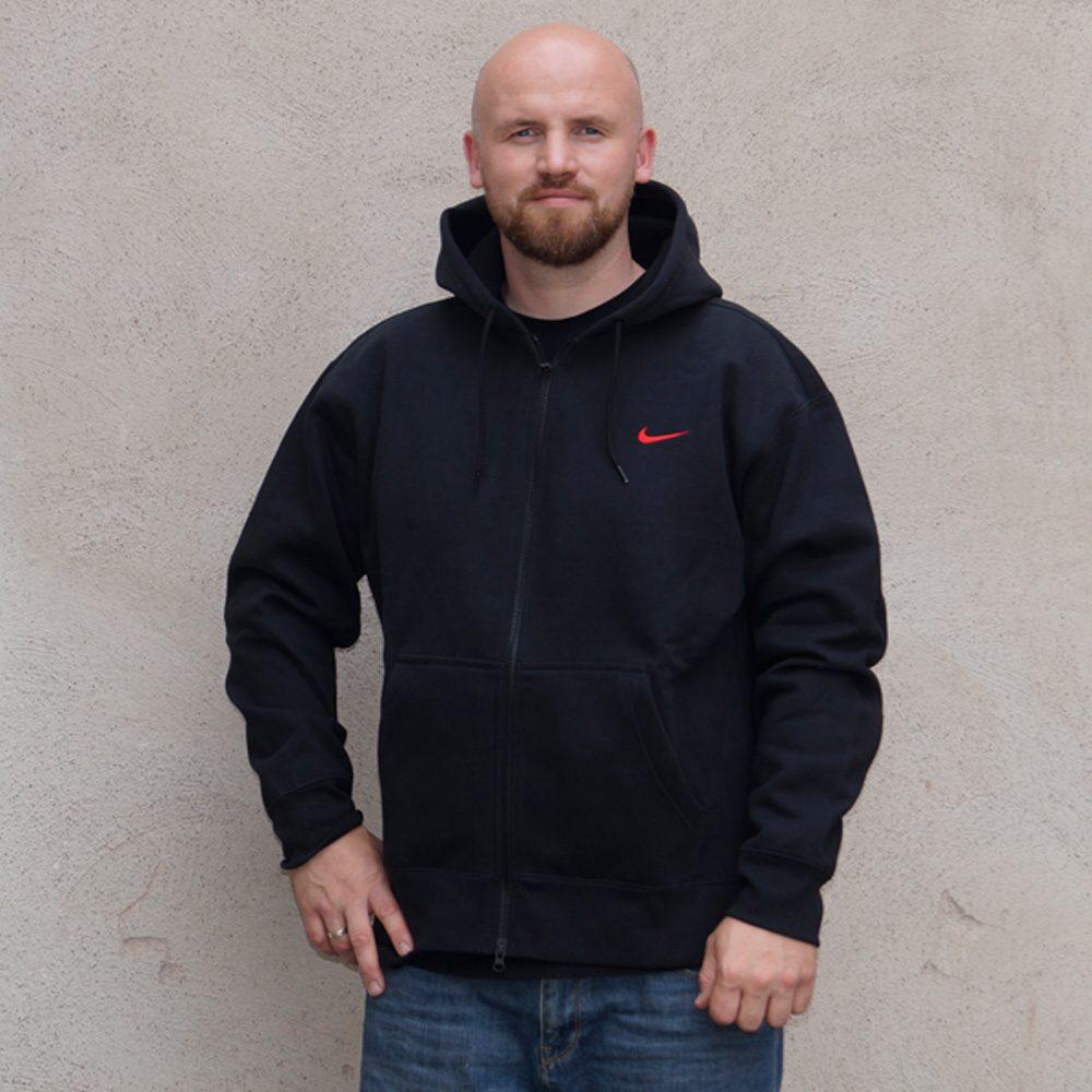 Nike SB Skateboard Oski Hoodie Iso Herren Kapuzenpullover schwarz