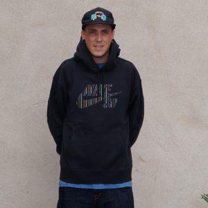 Nike SB Striped Skate Essential Hoodie Herren Kapuzenpullover schwarz