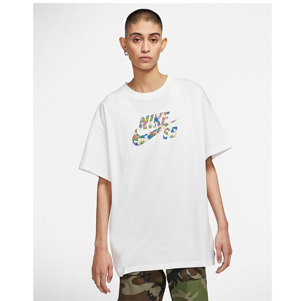 Nike SB Skate Logo T- Shirt weiß - meinsportline.de