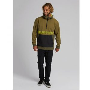 Burton Crown Bonded Performance Kapuzen Pullover Herren Fleece