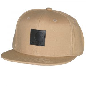 Carhartt WIP Logo Snapback Cap braun
