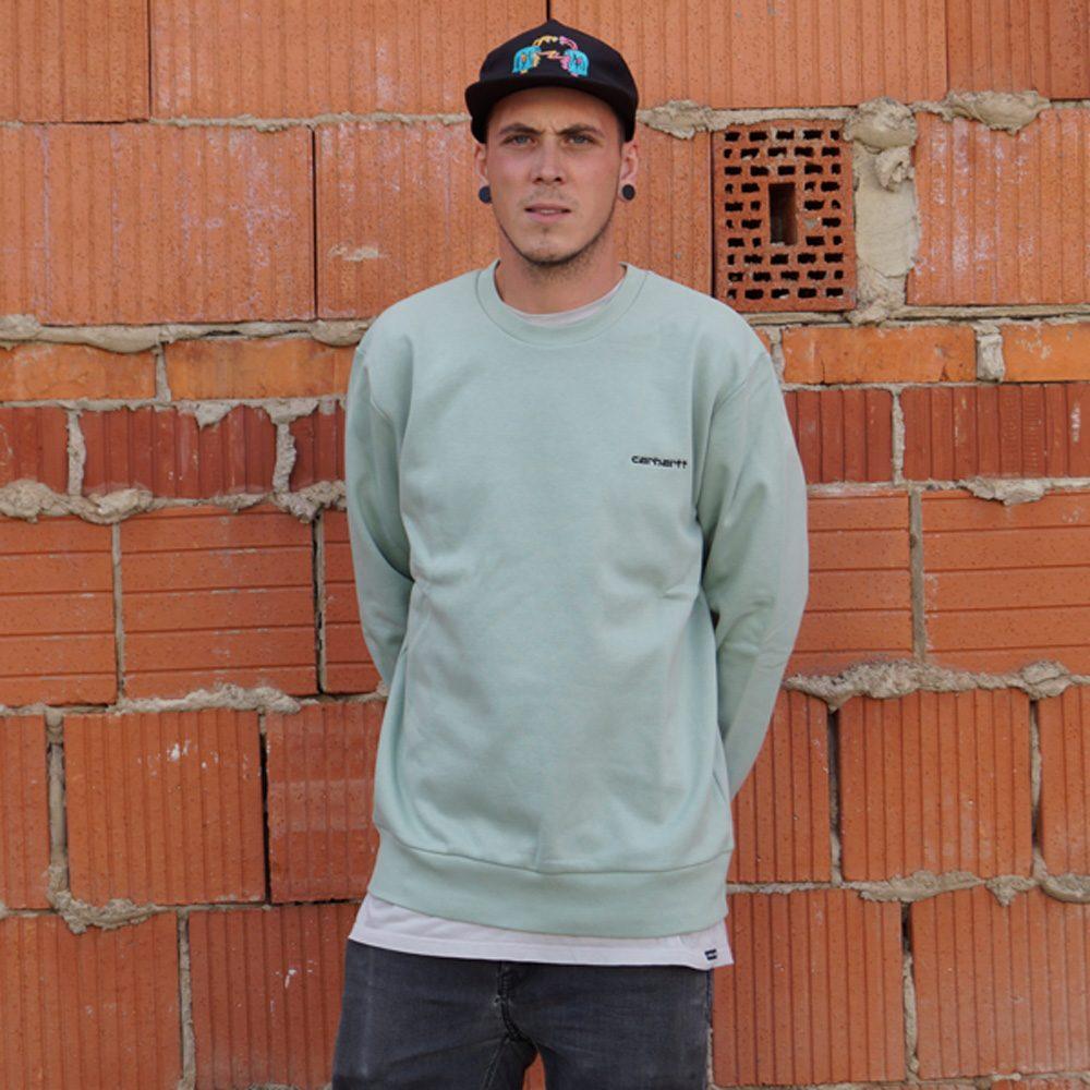 Carhartt Wip Script Embroidery Sweatshirt