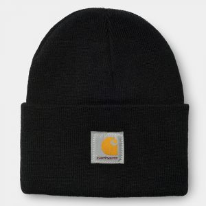 Carhartt WIP Short Watch Hat Beanie acrylic black