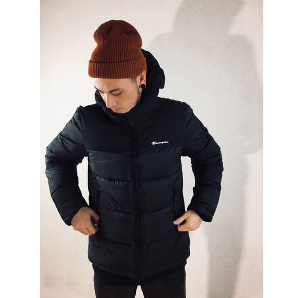 Champion Down Hooded Jacket Winterjacke Herren