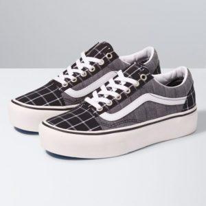 Vans Old Skool Platform Woven Check Sneaker Damen